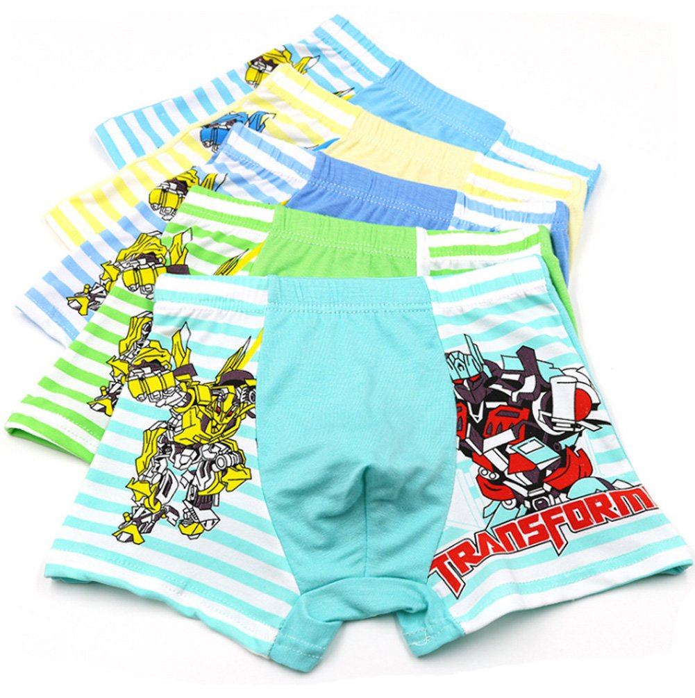 2-9 Years Old Boys Character Boxer Briefs Bright Colors Underwear 5 Pack