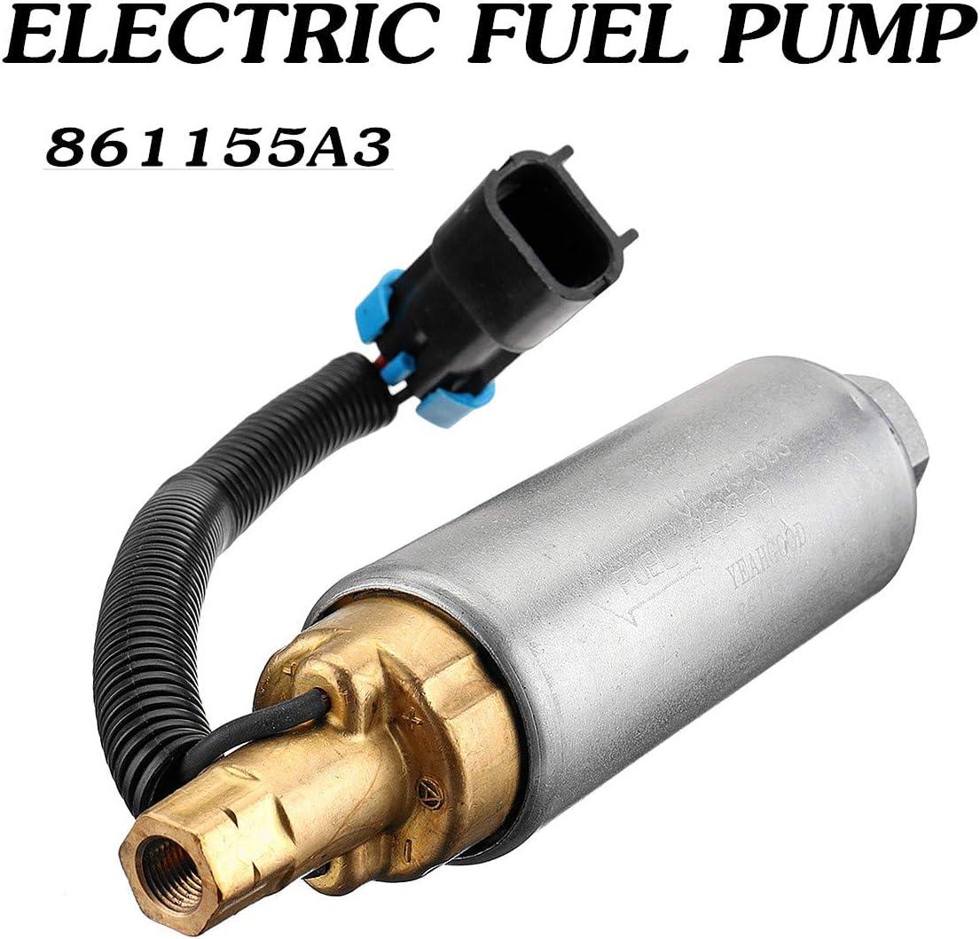 861155a3 Marine Elektrische Kraftstoffpumpe Für Mercury Mercruiser 4 3 5 0 5 7 V6 V8 Carb Gewinde Arbeitsdruck 9 Psi 10 Psi 16x4 Cm Auto