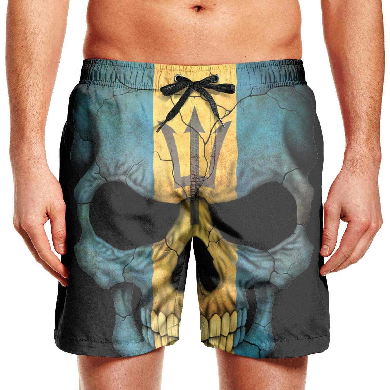 chchht Mens Swim Trunks Board Shorts Blue Hawaii Hibiscus Flowers Stretch Board Adjustable Beach Wear Shorts