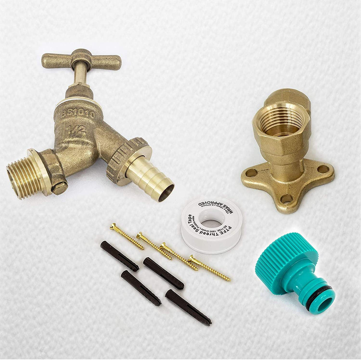 TWIN pack outer Threaded Brass Tap Hose pipe fitting Screws INTO your tap
