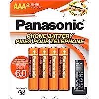 Panasonic - Pilas Recargables AAA NiMH para teléfonos DECT inalámbricos, Paquete de 8