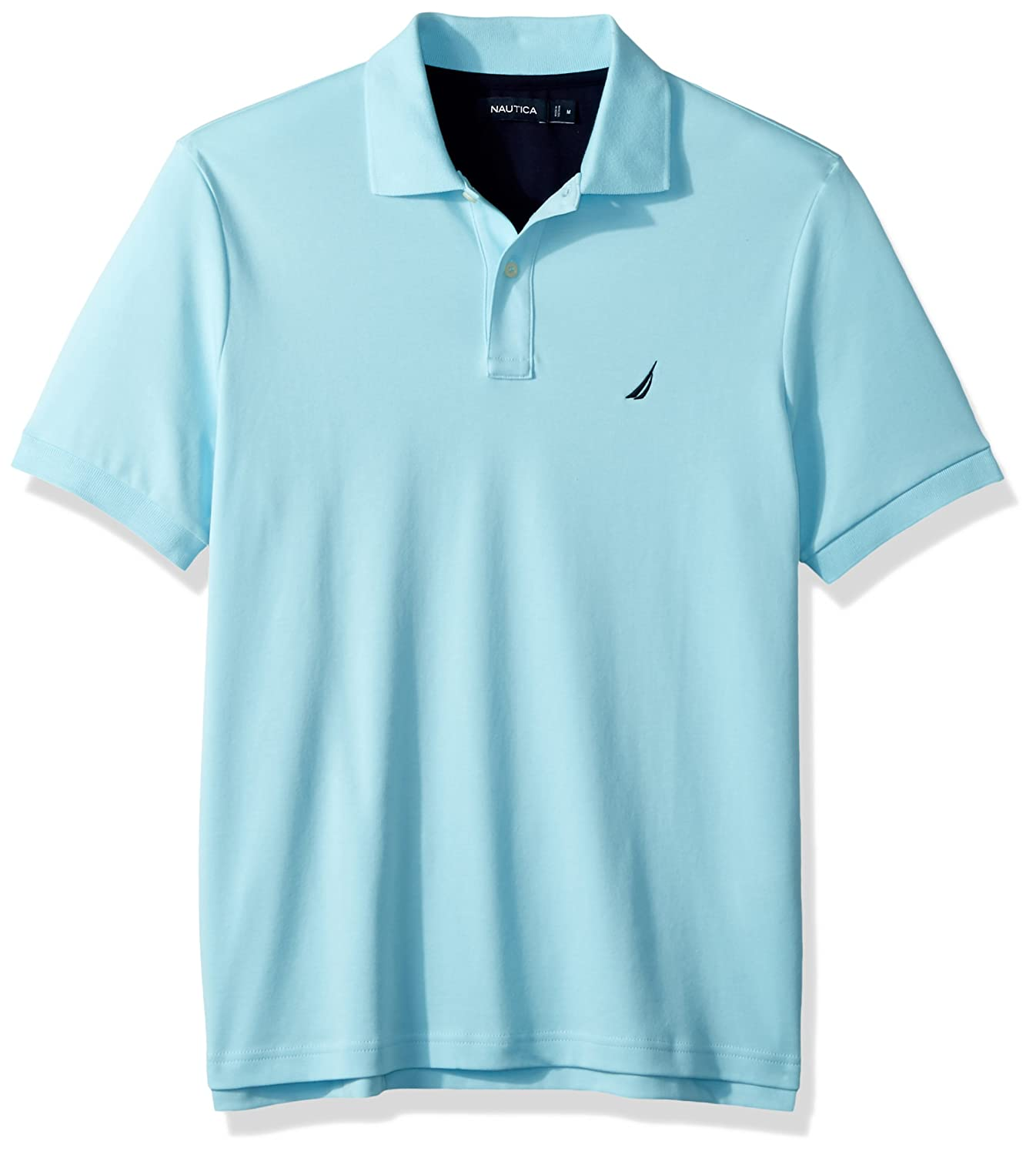 Nautica Mens Standard Classic Fit Short Sleeve Solid Soft Cotton Polo Shirt K82850