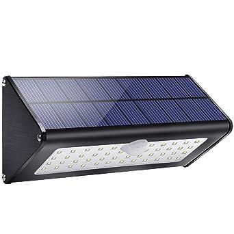 1100lm 4500mAh 46 LED Lampe Solaire en Aluminium, IP65 Imperméable ...