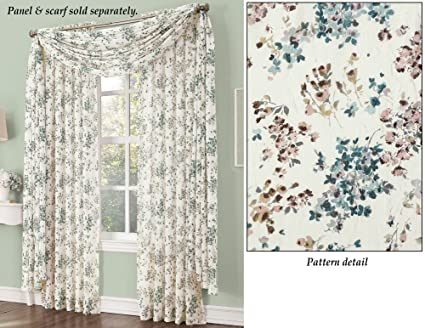 Collections Etc Sheer Athena Curtain Scarf