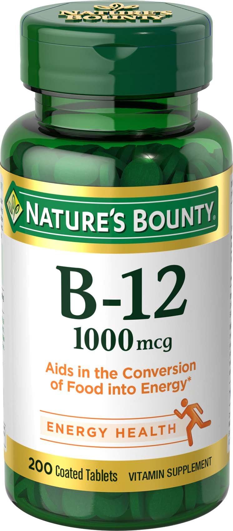 Natures Bounty Vitamin B-12 1000 Mcg Tablets, Value Size - 200 Ea