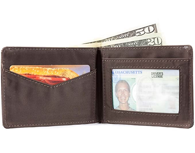 Big Skinny Mens Compact Sports Leather Bi-Fold Slim Wallet, Holds Up to 20 Cards, Brown: Amazon.es: Deportes y aire libre