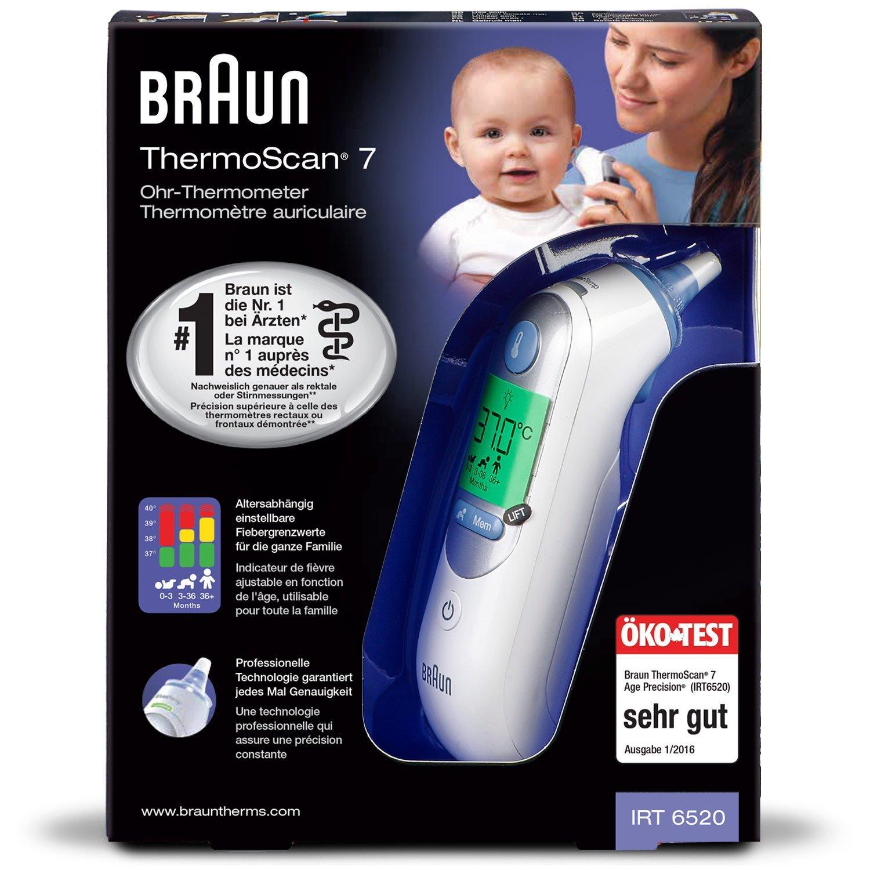Braun Thermoscan 7 - Termómetro digital auricular + 40 protectores de lente + caja de protección: Amazon.es: Salud y cuidado personal