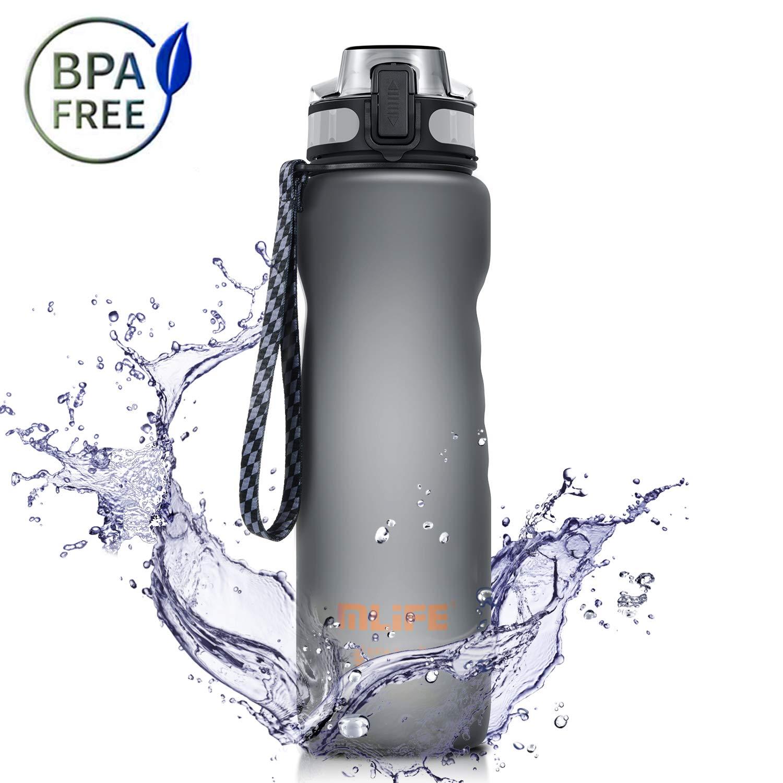 Adoric Sport Trinkflasche, [BPA Frei Tritan] 1L Wasserflasche Trinkflaschen