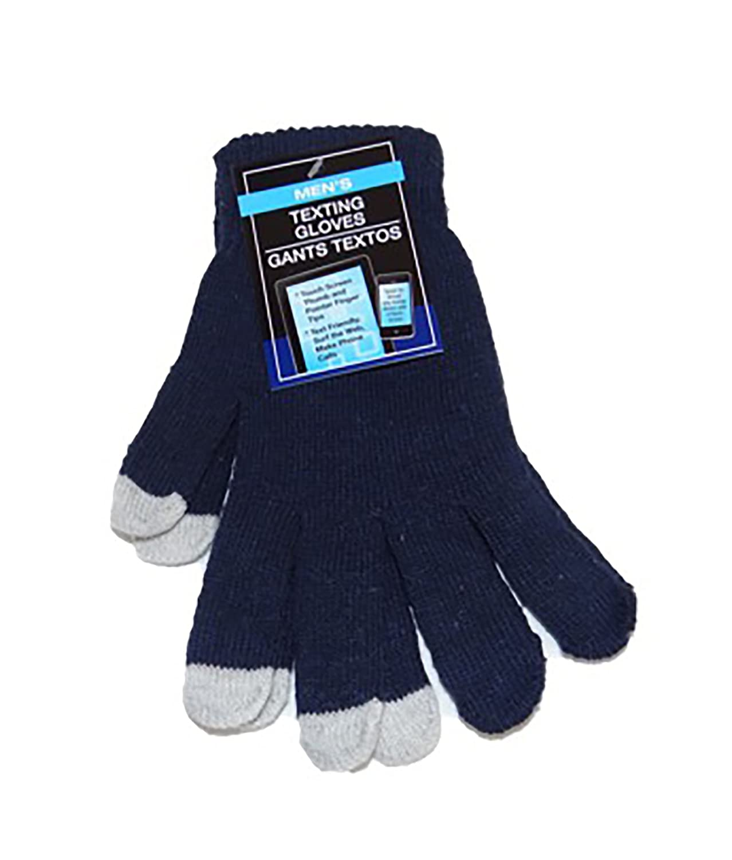 Mens Winter Knitted Touchscreen Gloves