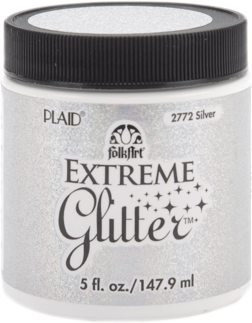 FolkArt Extreme Glitter Acrylic Paint in Assorted Colors (5-Ounce), Silver