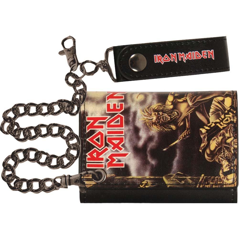 Iron Maiden Men's Tri-Fold Wallet Black H3 SPORTGEAR MW00330IMDU