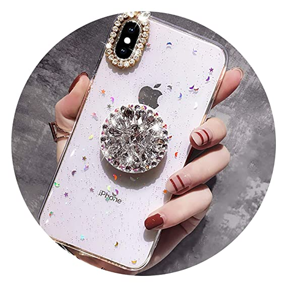 c4dcca7a62 Amazon.com: for iPhone 7 8 Case Luxury Glitter Diamond Cover for ...