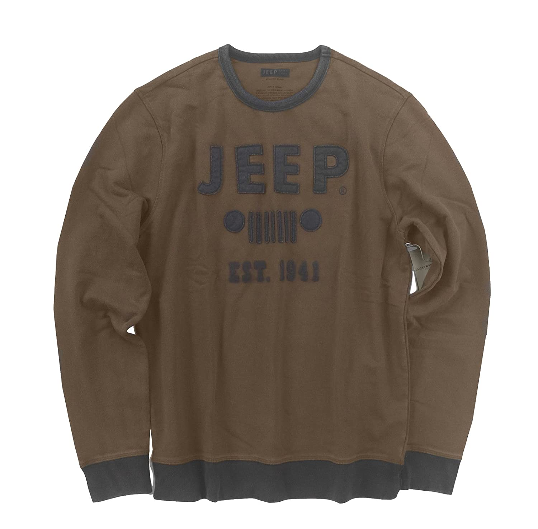 Lucky Brand Mens Retro Jeep 1941 Grill Sweatshirt