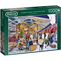 Jumbo 11266 Falcon de Luxe-Coming Home for Christmas 1000 Piece Jigsaw Puzzle, Multi