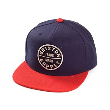 Brixton Hats Oath III Snapback Cap - Navy Red Navy-Red Adjustable ... 5fe621a1cd6d