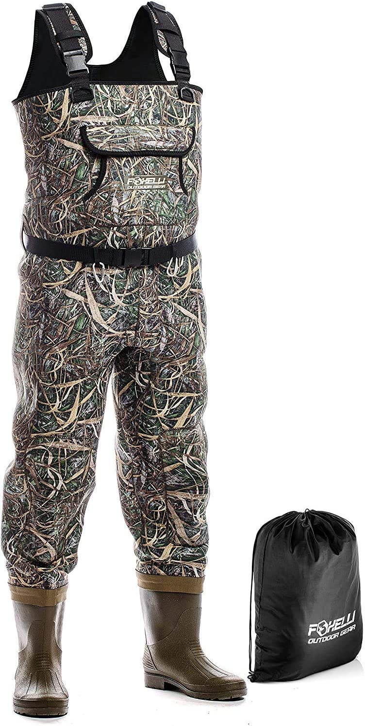 Best Fishing Waders : Foxelli Neoprene Fishing Waders