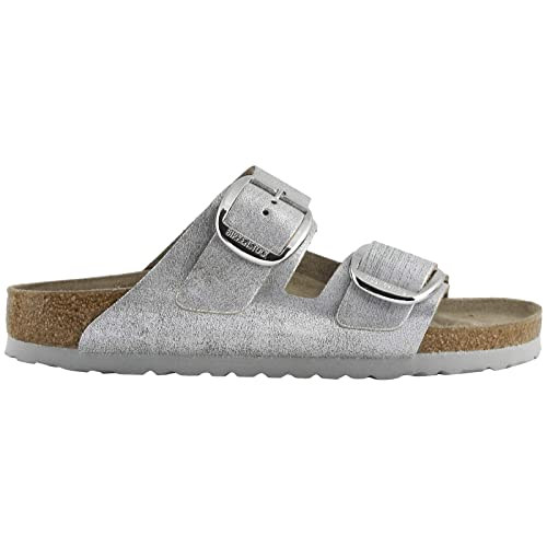 a01343a1d3044 Birkenstock Womens Arizona Big Buckle Suede Blue Silver Sandals 8 US ...