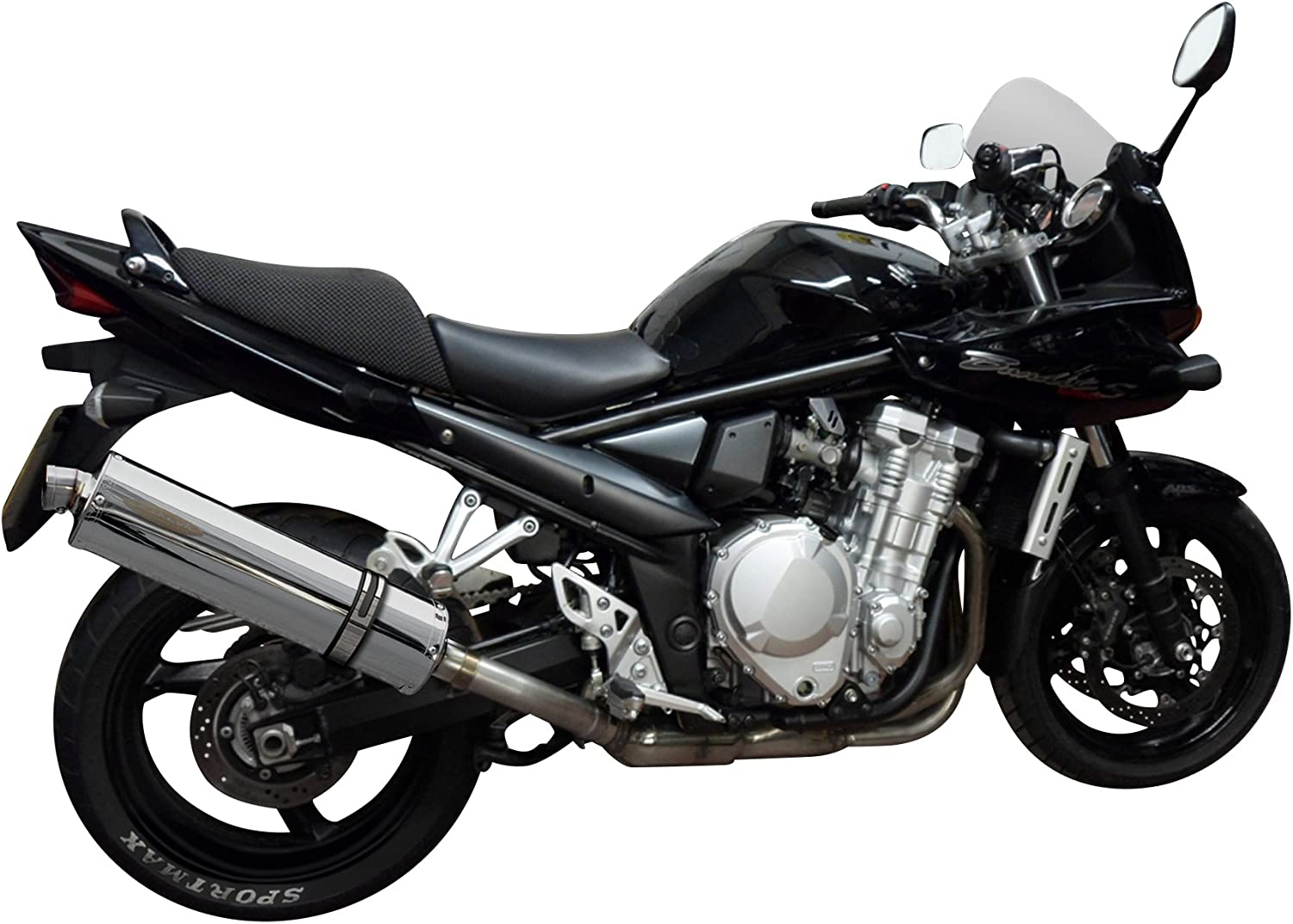Delkevic Aftermarket Slip On compatible with Suzuki GSF1250 Bandit 18 Stainless Steel Oval Muffler Exhaust 07-09 /& 16