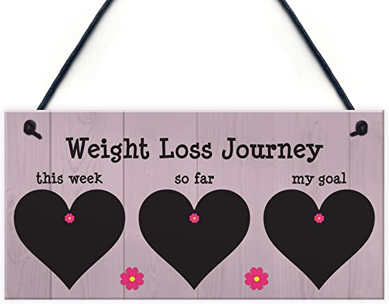 Weight loss plaque Slimming world log diet planner Blackboard weight watchers sign Chalkboard Personalised Tracking weight tracker