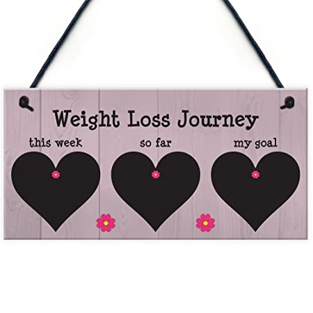 red ocean weight loss tracker chalkboard hanging sign weight