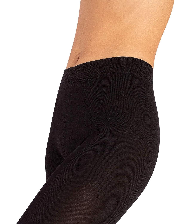 CALZITALY Leggings Donna Calzetteria Italiana Nero Pantacollant Coprente 200 Den