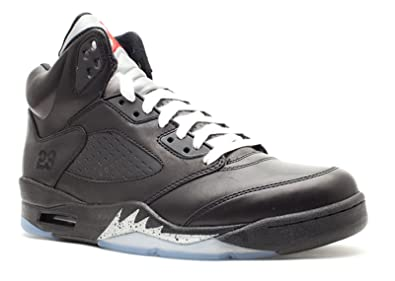 "715446fc3a9 Nike Mens Air Jordan 5 Retro Premio Bin 23"" Black/Metallic Silver  Leather Size"