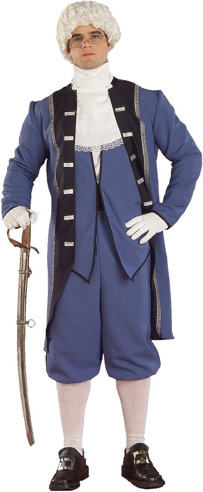 George Washington Revolutionary War Blue Adult Costume 3 Sizes