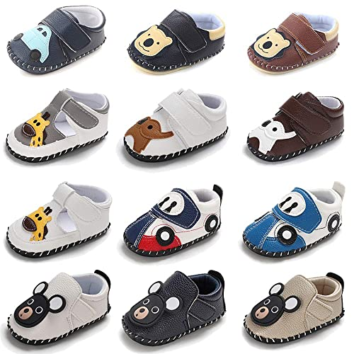 3a1fd36487503 Infant Baby Boys Girls Shoes Soft Sole Cartoon Slipper PU Leather Moccasins  Toddler First Walker Crib Shoes
