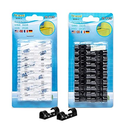 Cable Clips with Strong Self-Adhesive PadsTidy and Organise Cords and Wires