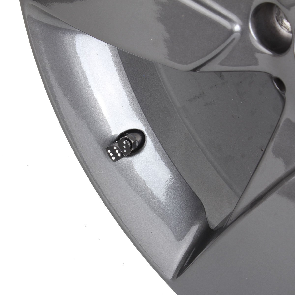 TOMALL Dice Style Valve Stem Caps Gray for Vehicle Motorcycle Bike