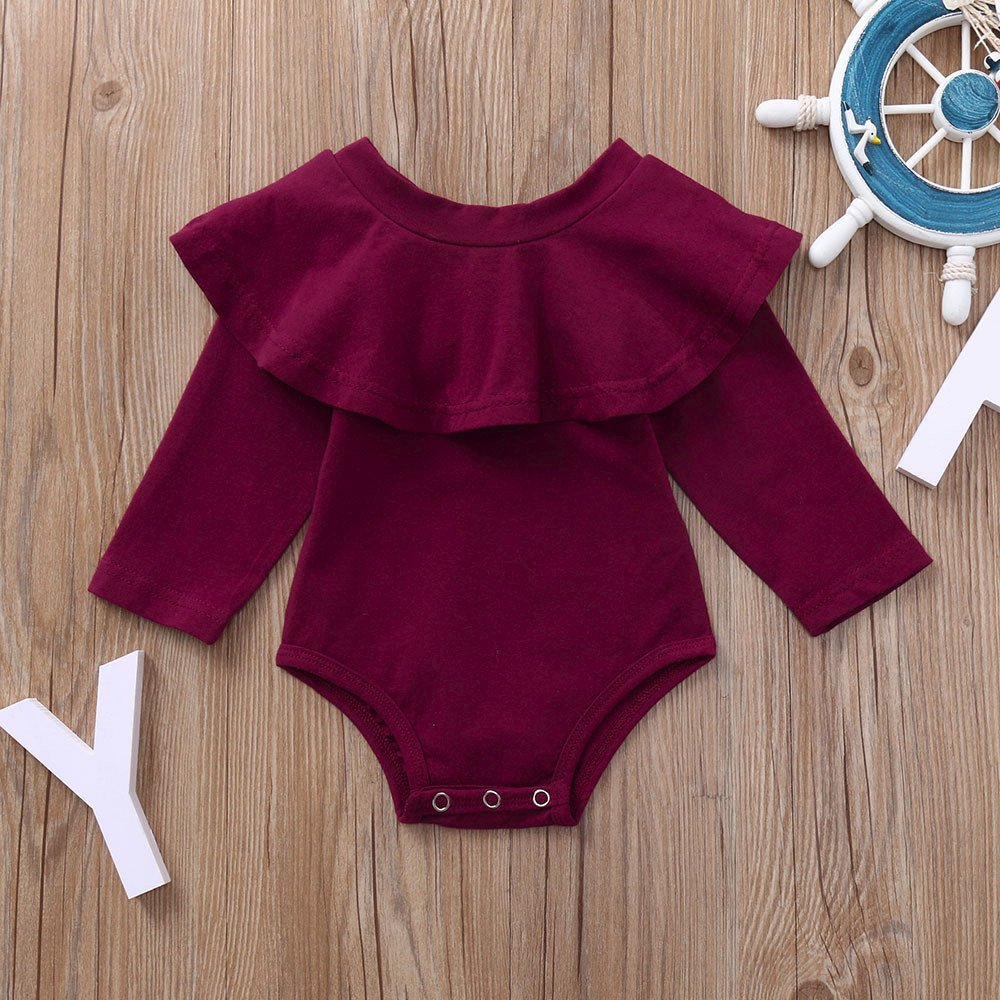 Amazon.com: Body de manga larga para bebés y niñas de otoño ...