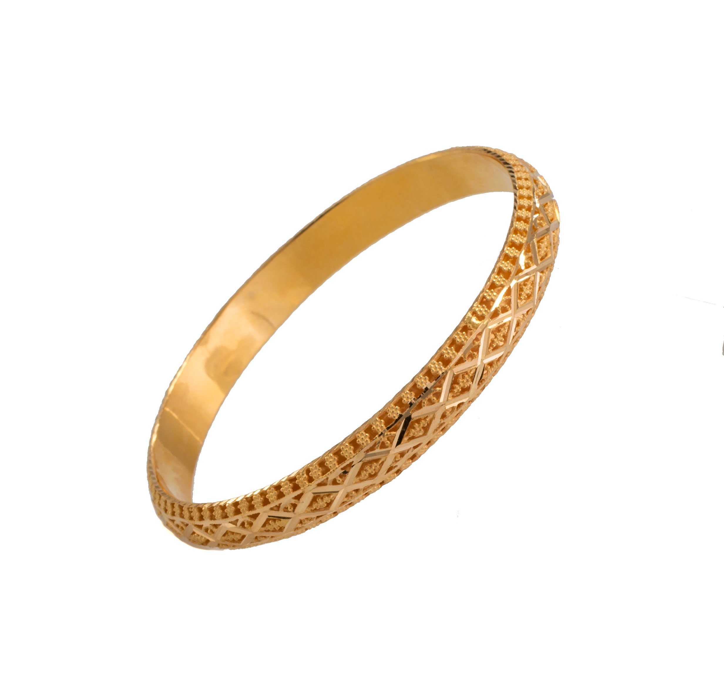 Elegant & Stylish 21k Gold Bracelet For Women By Evan Jewels –ELiteGolden Women's Bangle, Timeless Classic Design & Premium Craftsmanship, Perfect Birthday, Anniversary & Special Occasion Gift Idea