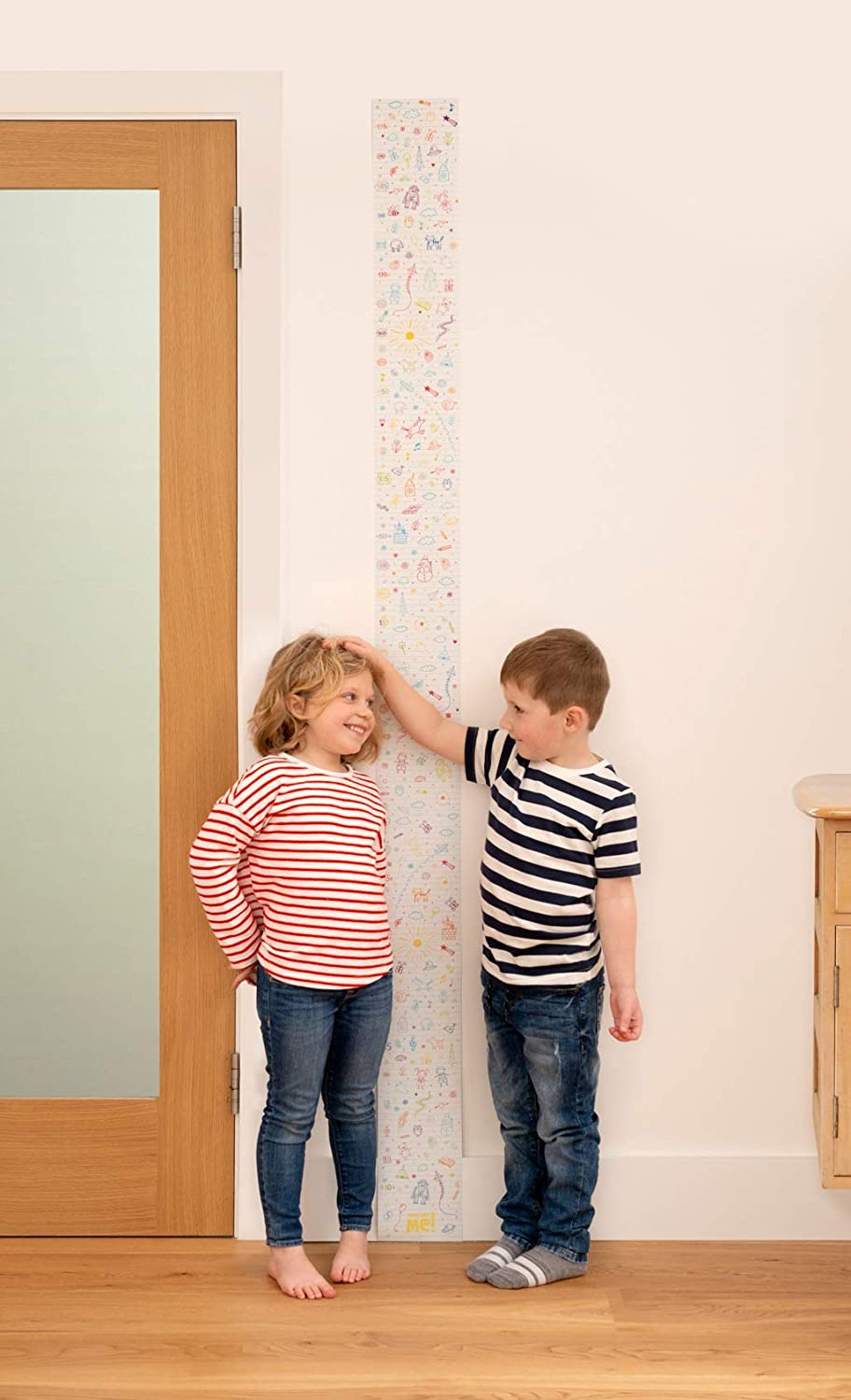 Doodle Doo Baby Roll-up Growth Height Chart for Children Kids Room Little Wigwam Measure Me