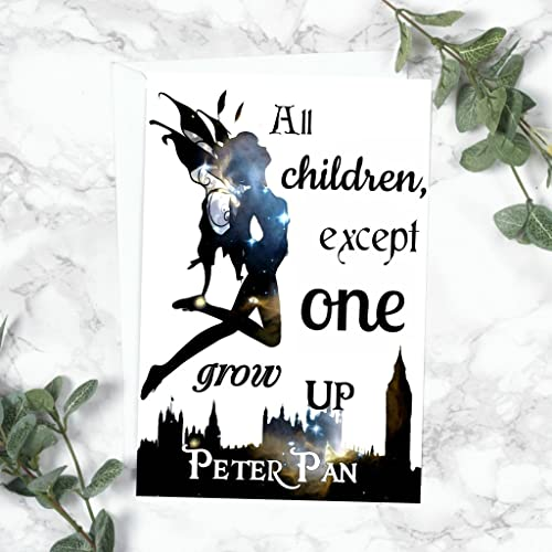 Peter Pan Card All Children Except One Grow Up Amazoncouk