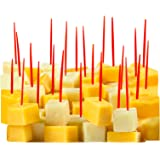 """Red Plastic Toothpicks, 300 Small Food Picks, 2.5"""" Soodhalter Pic-A-Pic"""