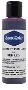 AmeriColor AmeriMist - Red Red Airbrush Food Color, 4.5 oz