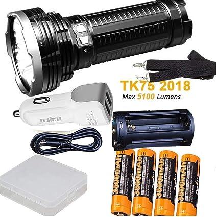 Amazon.com: Fenix TK75 5100 lúmenes 2018 Edition 4 Cree LED ...