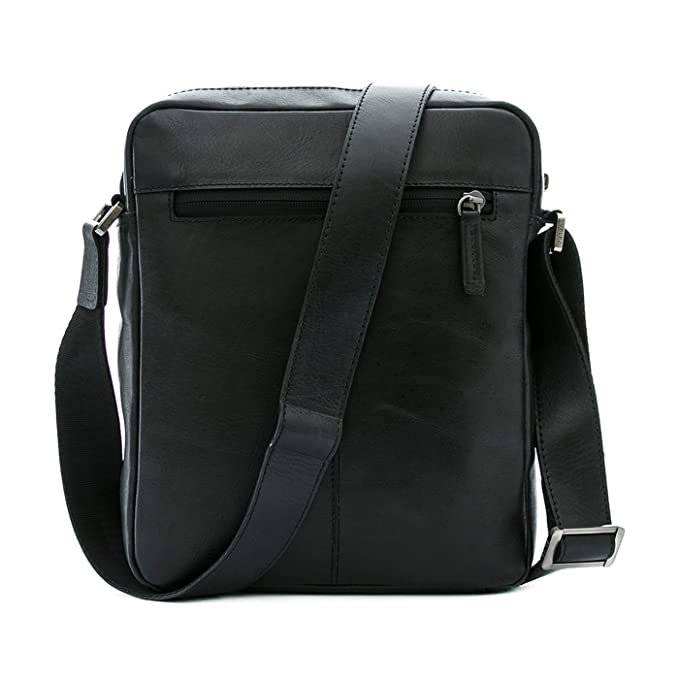 Amazon.com | VÉLEZ 20201 Men Genuine Leather Crossbody Bag | Bandolera De Cuero Black | Backpacks
