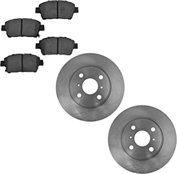 STS Front Rear eLine Black Slotted Brake Rotors For 2004-2011 Cadillac CTS