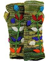 Hand Knit 100% Wool Fleece Lined Hand Warmer/Glove