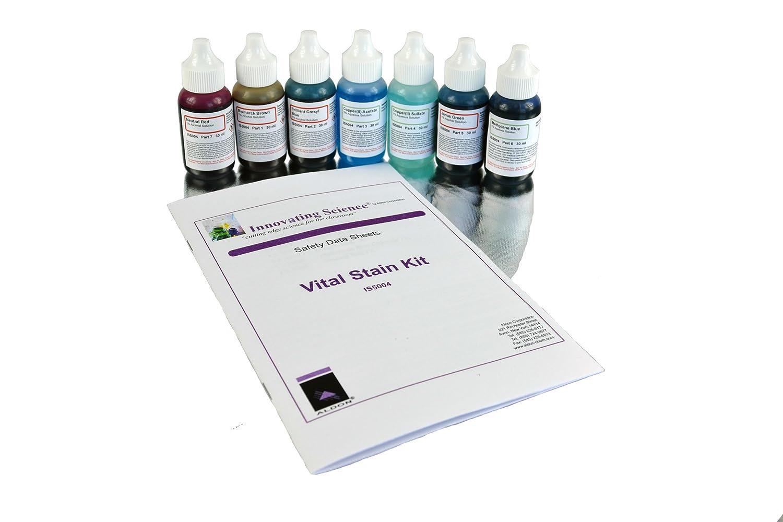 /7/Bouteille Kit de taches amscope SK-6/Vital/ 6/diff/érentes taches pour lames de microscope