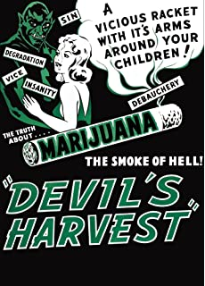 "AD82 1950/'s Devils Harvest Marijuana Anti Drugs Poster A3 17/""x12/"""