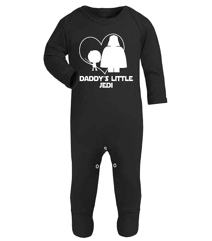 Divertido pijama tipo mono para bebé con la frase «Daddy s Little Jedi» de Star Wars rosa Talla:0-3 Meses: Amazon.es: Bebé