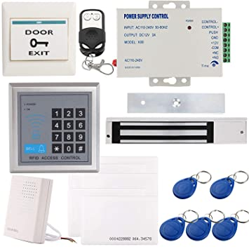 UHPPOTE Full Complete 125KHz RFID Card Door Access Control Kit Including 600lbs Force Electric Magnetic Lock, Mag-lock with UL-Listed