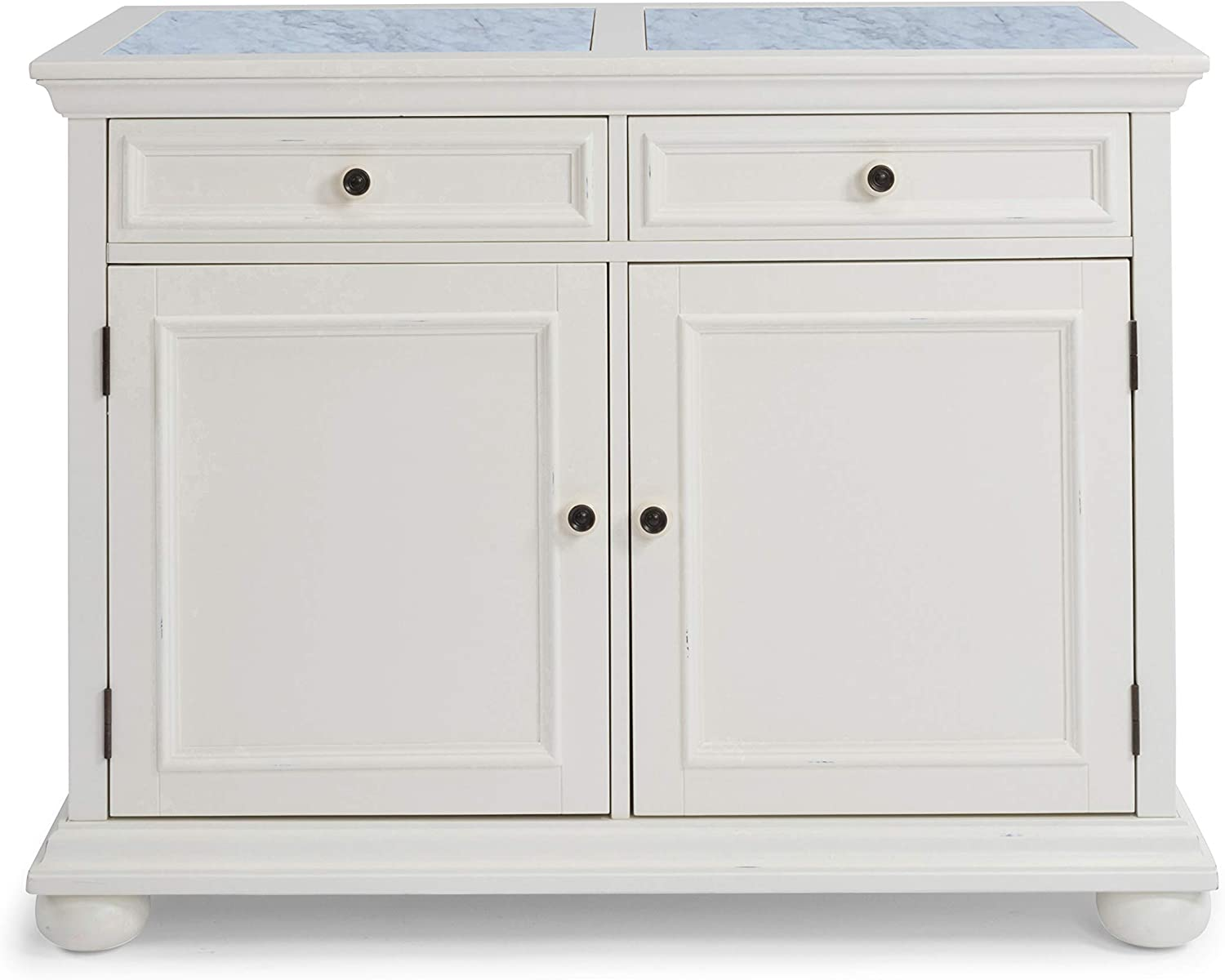 Dover White Quartz Top Kitchen Island By Home Styles Kitchen Islands Carts