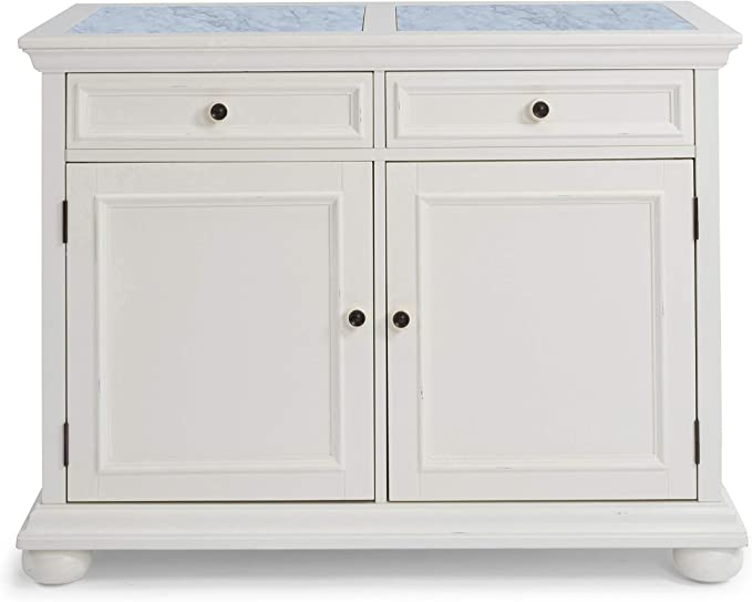 Dover White Quartz Top Kitchen Island By Home Styles Kitchen Islands Carts