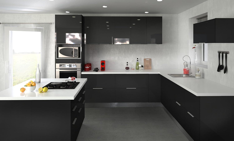 Berlenus Cp8ha Tall Kitchen Cabinet 2 Doors 80 Cm High Gloss Aubergine Kitchen Units