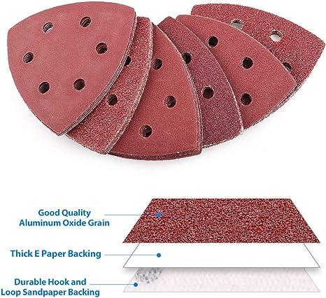 Craftsman Oscillating Sanding Pads 180 Grit 48 Piece Set 6 Hole Aluminum Oxide