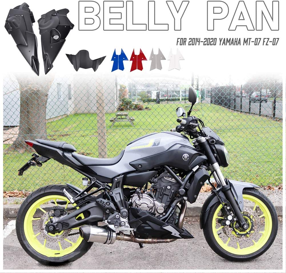 Amazon Com Motorcycle Bellypan Belly Pan Engine Spoiler Fairing Body Frame Kit For 2014 2015 2016 2017 2018 2019 2020 Yamaha Fz 07 Mt 07 Fz07 Mt07 Fz Mt 07 14 20 Accessories Parts Grey Automotive