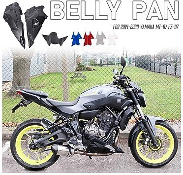 Motocicleta Bellypan Belly Pan Engine Spoiler Carenado Kit De Marco De Carrocería Para 2014 2015 2016 2017 2018 2019 2020 Yamaha Fz 07 Mt 07 Fz07 Mt07 Fz Mt 07 14 20 Accesorios Partes Azul Amazon Es Coche Y Moto